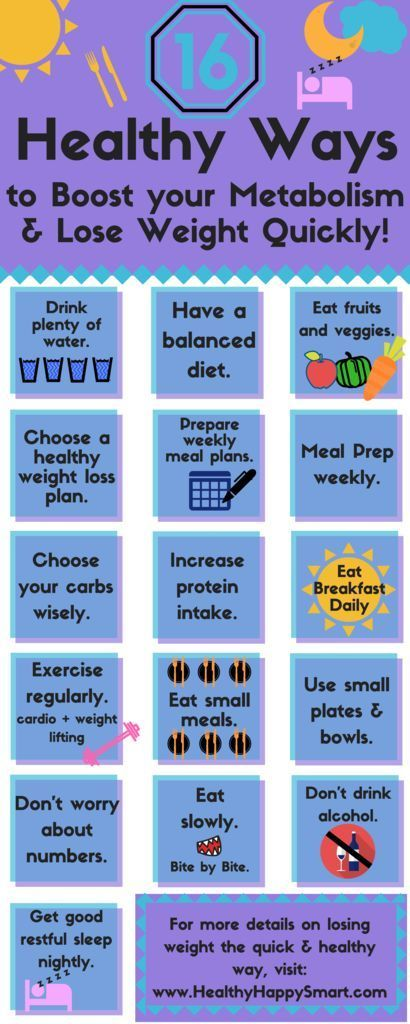 healthy ways to boost your metabolism and lose weight quickly