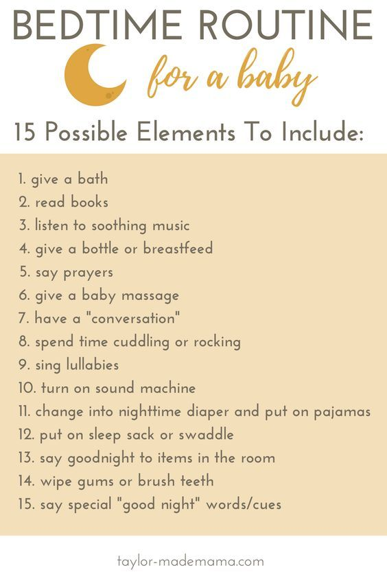 Bedtime routine for a baby