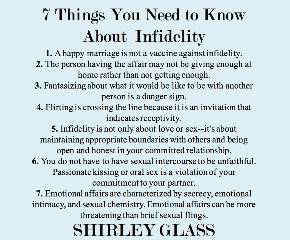Things you need to know about Infidelity