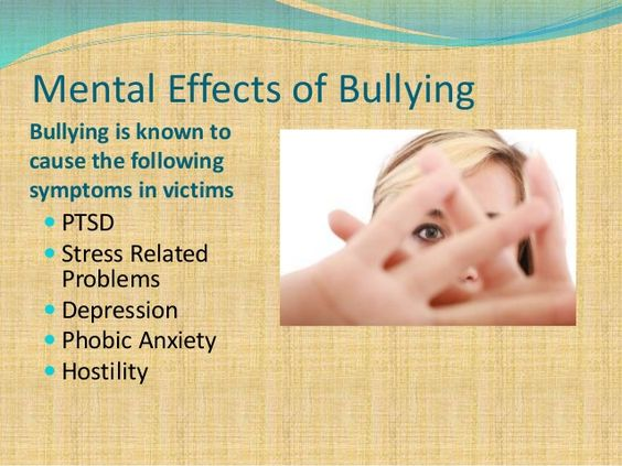mental effects of bullying