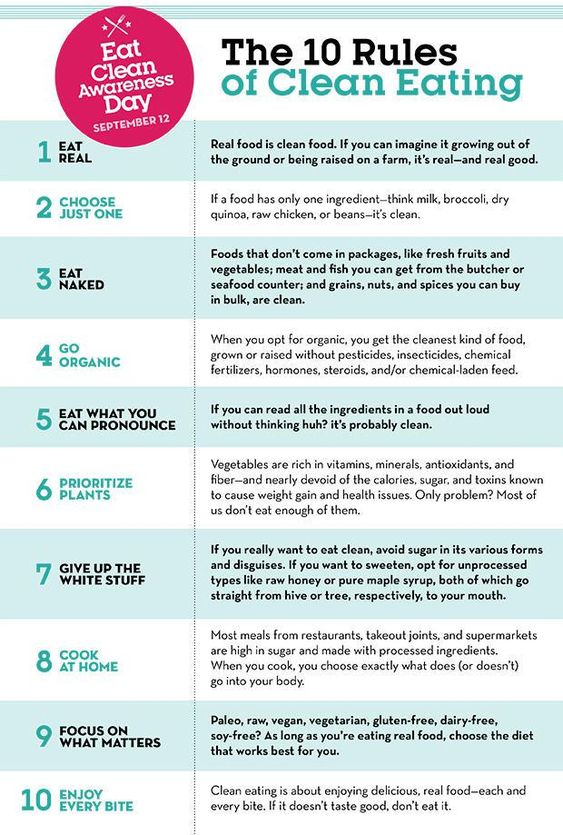 rules for clean eating