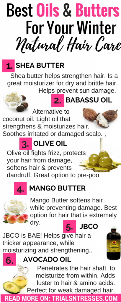 Best Oils Butters For Your Winter Natural Hair Care