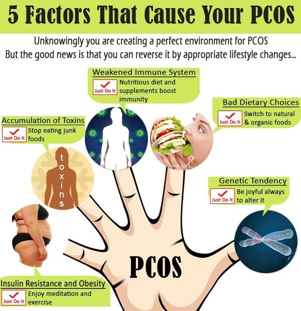 Factors that cause PCOS