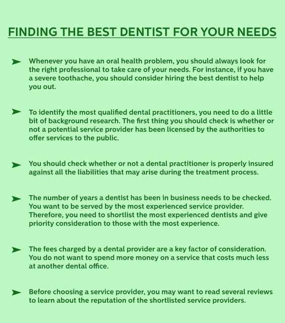 Finding the Best Dentist for your Needs