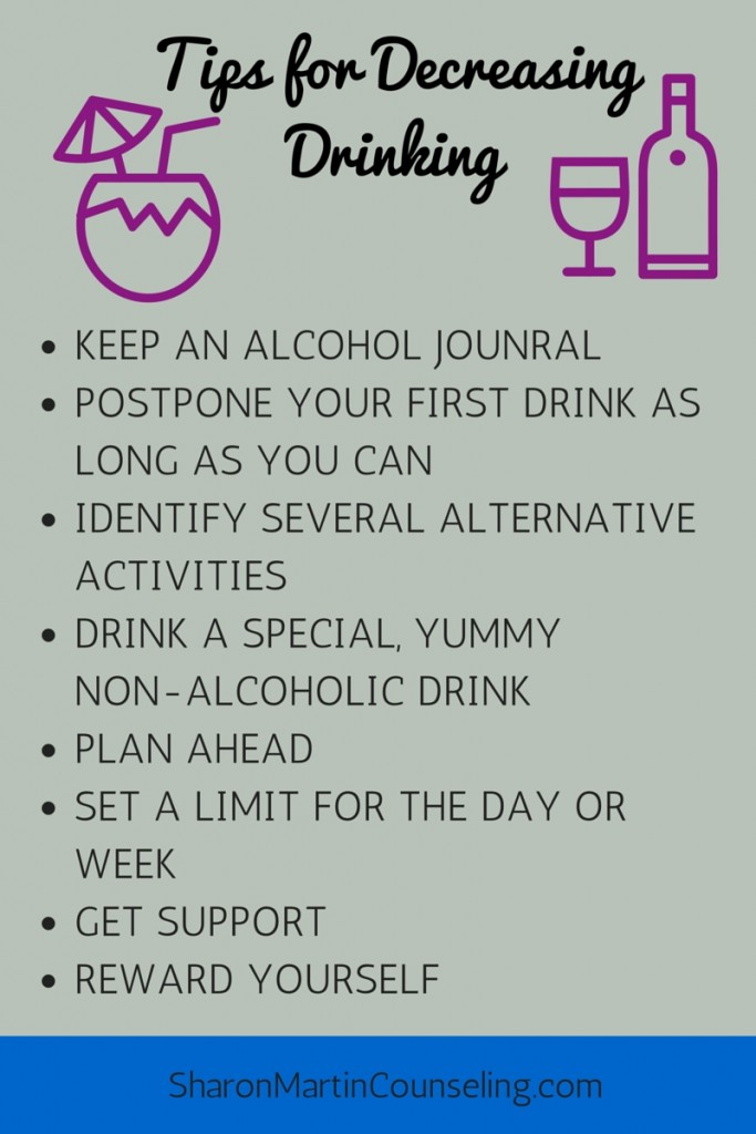 Tips for Decreasing Drinking