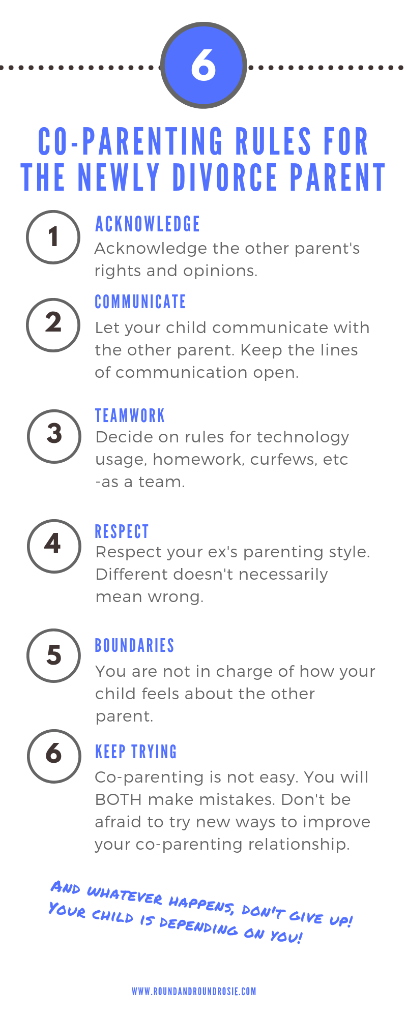 Co-Parenting rules for the newly Divorce Parent