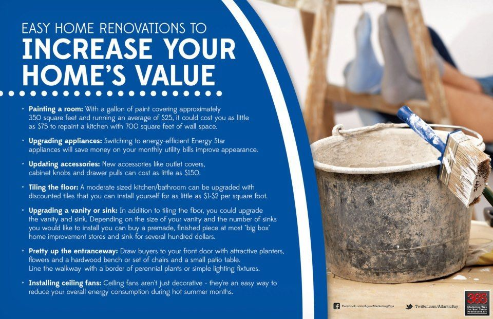 Easy home renovations to increase your home's value