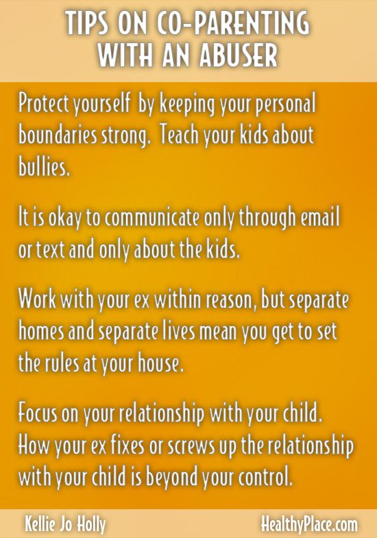 Tips on Co-Parenting with an abuser