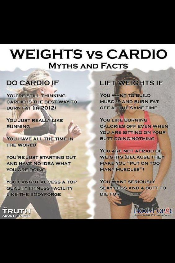 Weight vs cardio