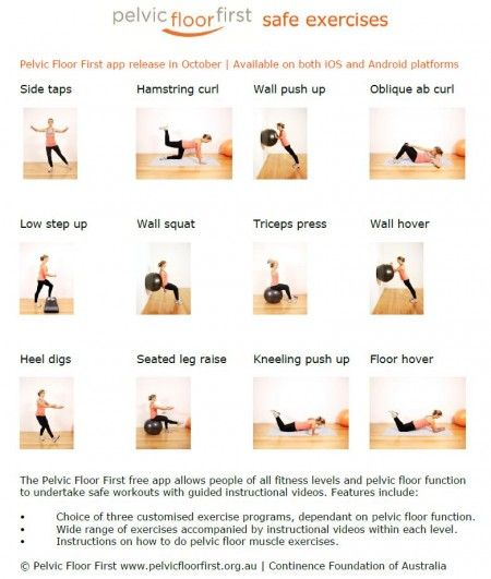 Pelvic floor first safe exercises
