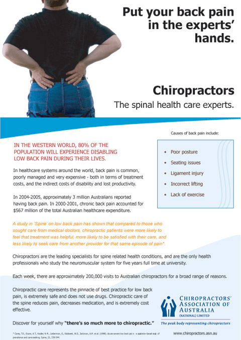 Chiropractic Care for Back Pain