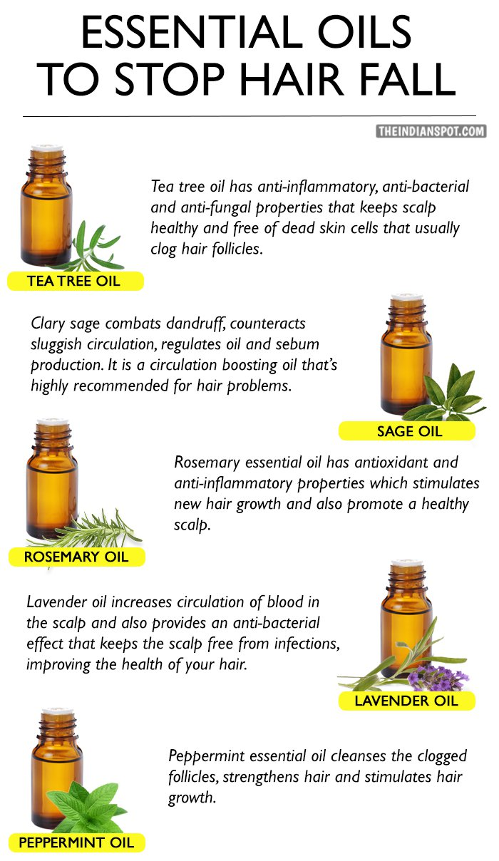 Essential oils stop hair fall