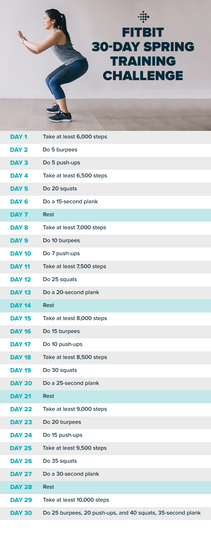 30 days Spring Workout challenge