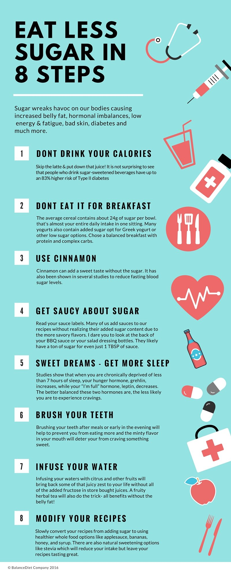 Eat Less Sugar in 8 Steps