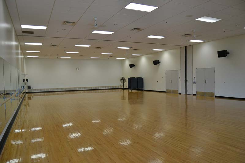 Having enough space to move jump and turn is essential to a quality zumba class.