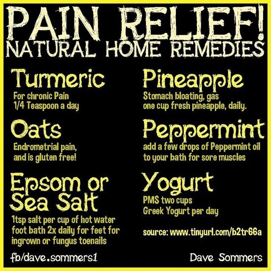 Pain Relief Natural Home Remedies