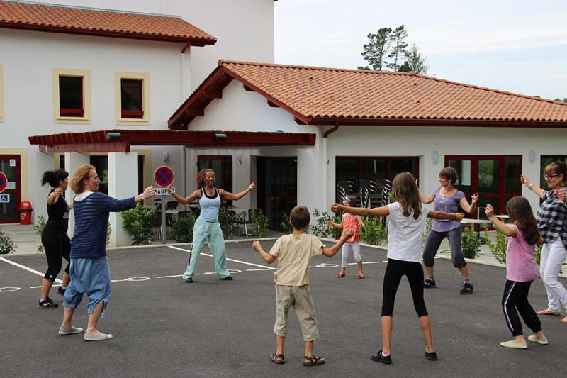 Zumba combines dancing and workout and welcomes all who like to have fun while exercising.