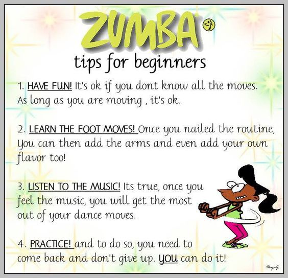 Zumba tips for Beginners