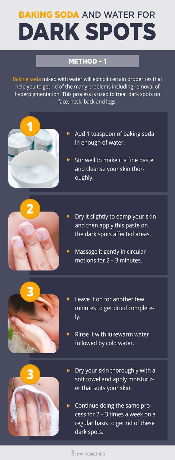 Baking Soda and Water for Dark Spots