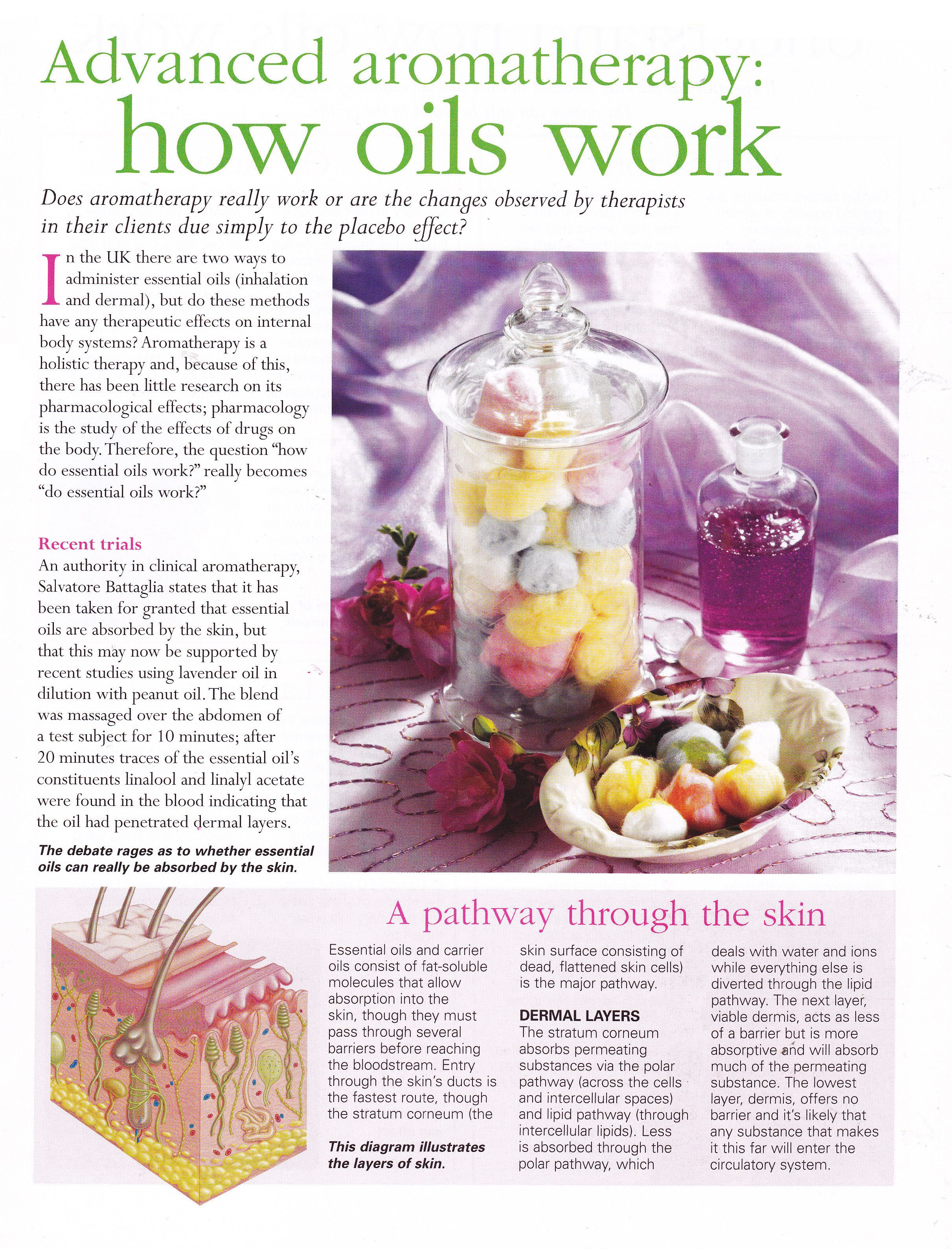 Advanced Aromatherapy how oils work