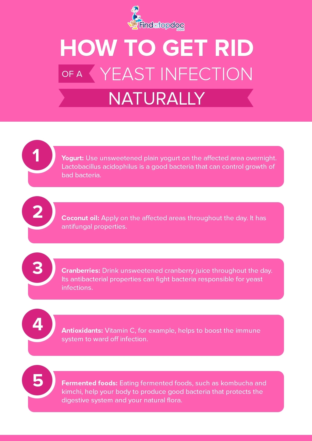 How to Get Rid of a Yeast Infection Naturally
