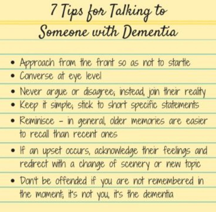 tips for talking to someone with Dementia