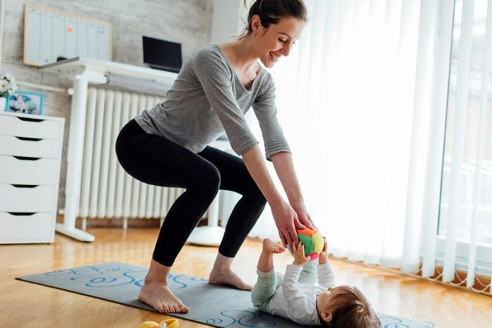 A simple workout schedule for stay at home moms