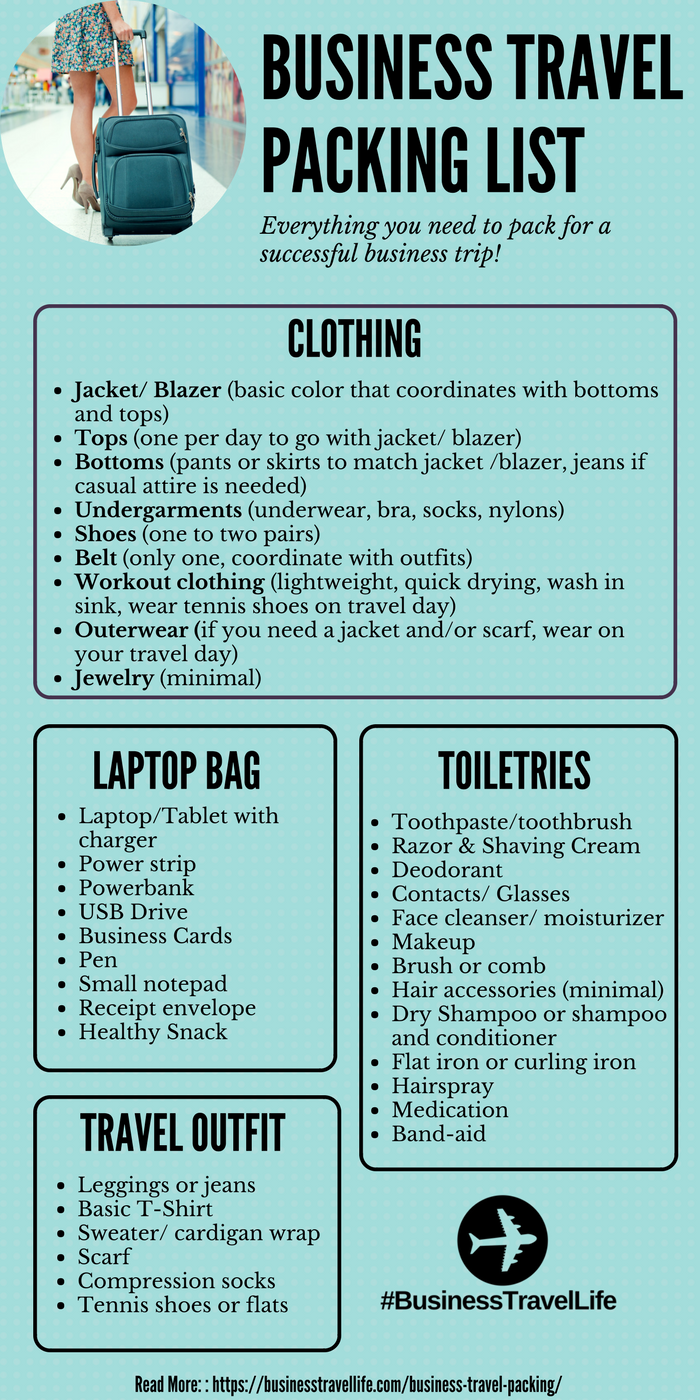 Business Travel Packing List