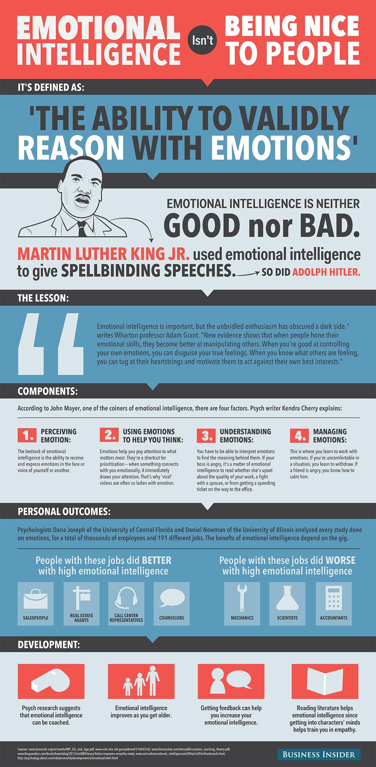 emotional intelligence isn't being nice to people