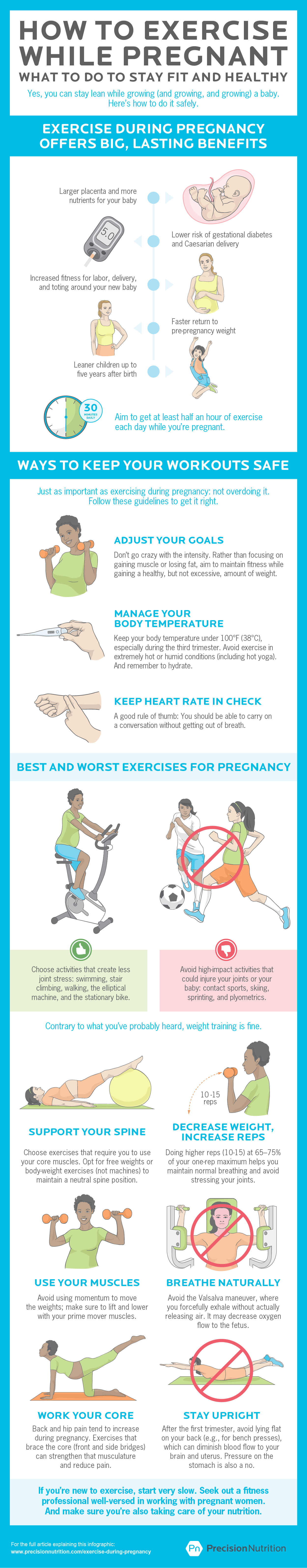 How to exercise while pregnant