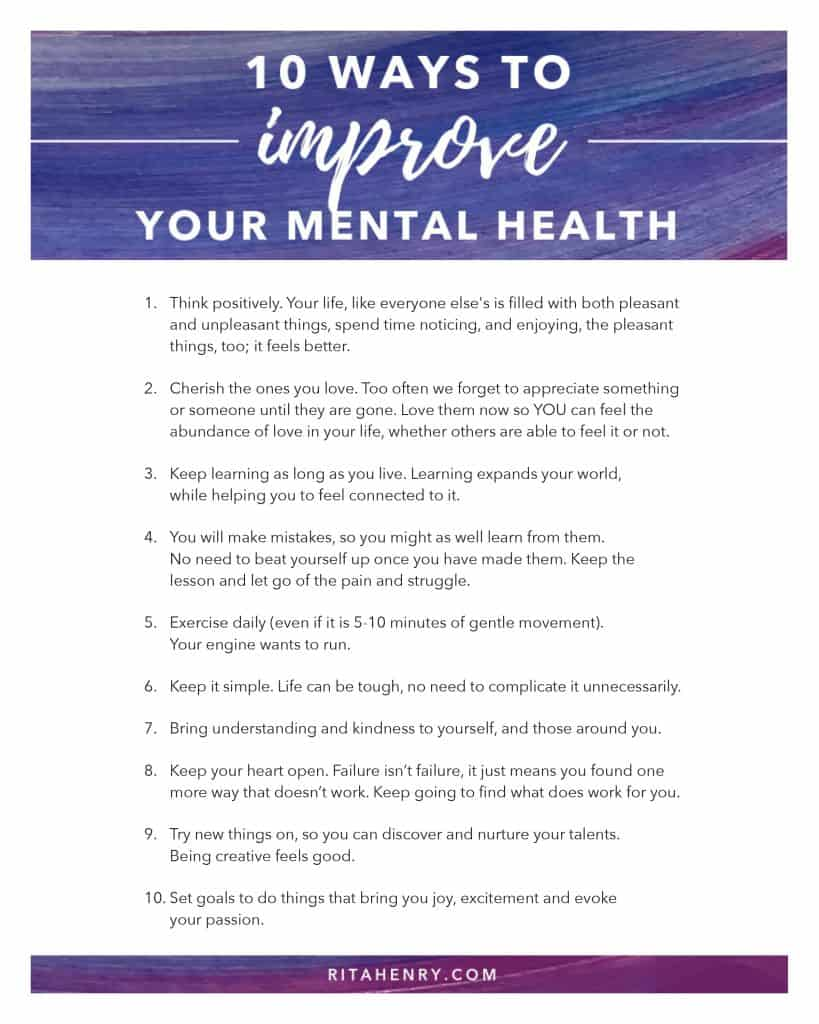 Improve your mental health