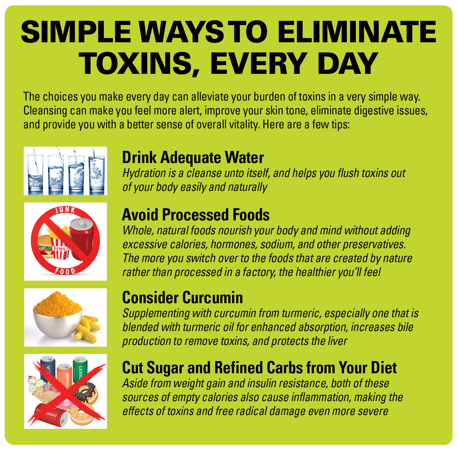 Simple Ways Eliminate Toxins