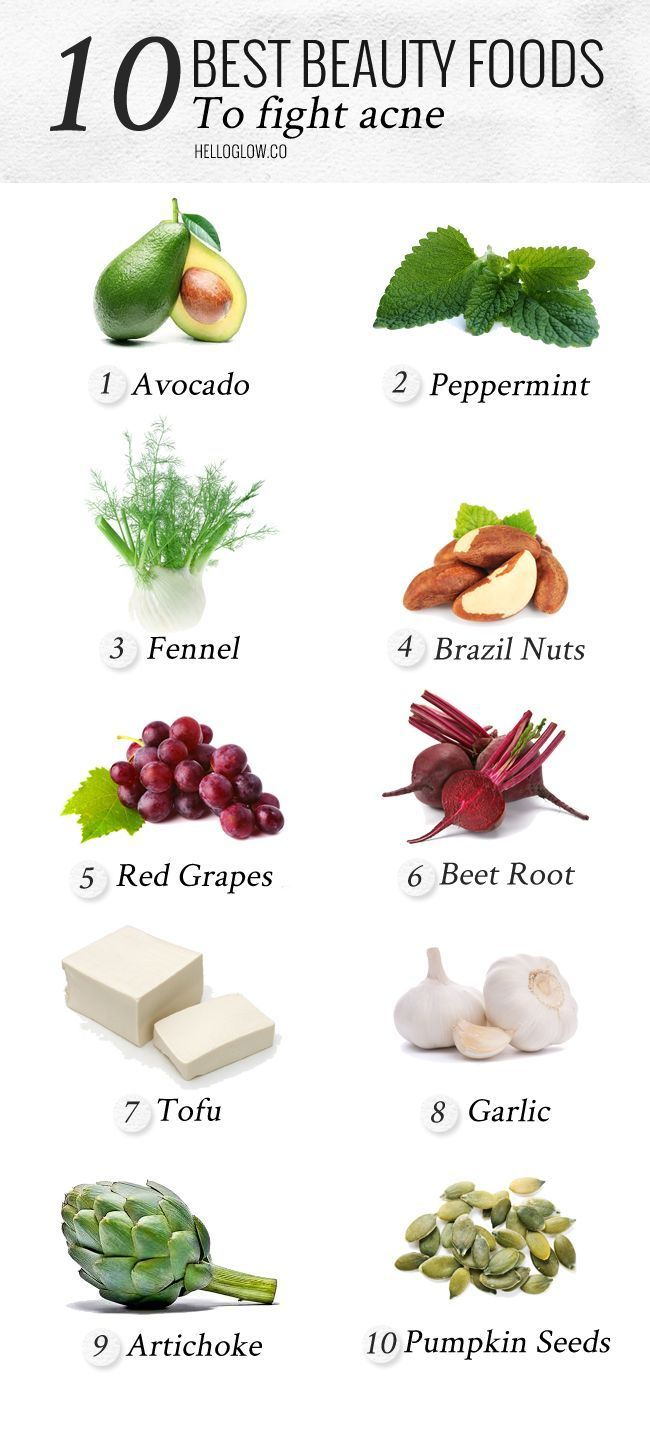 Beauty foods to fight acne
