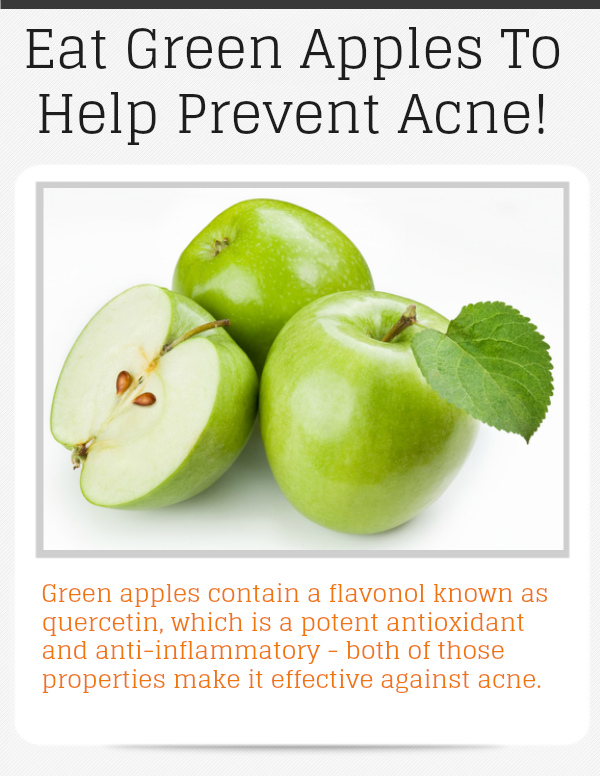 Eat Green Apples to Help Prevent Acne