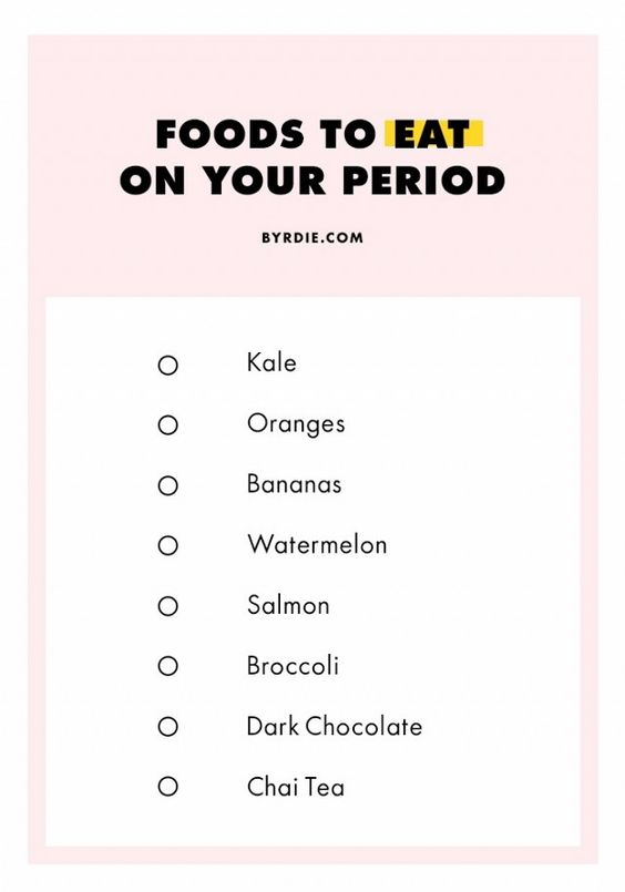 Foods to eat on Your Periods