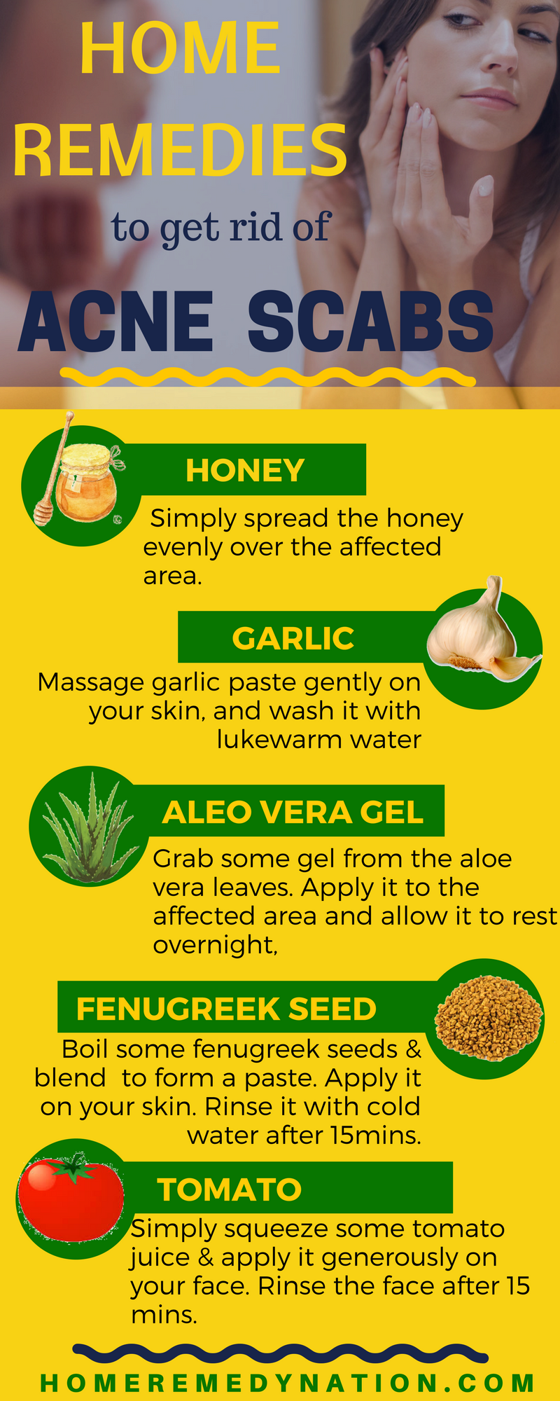 Home Remedies to get rid of Acne Scars