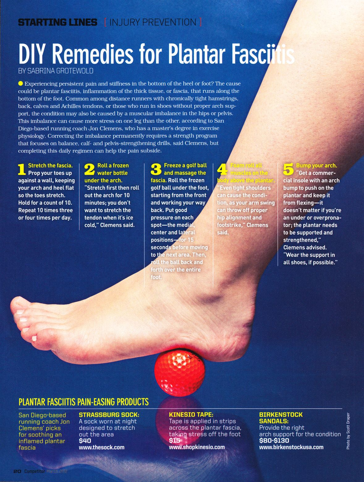DIY remedies for Plantar Fasciitis