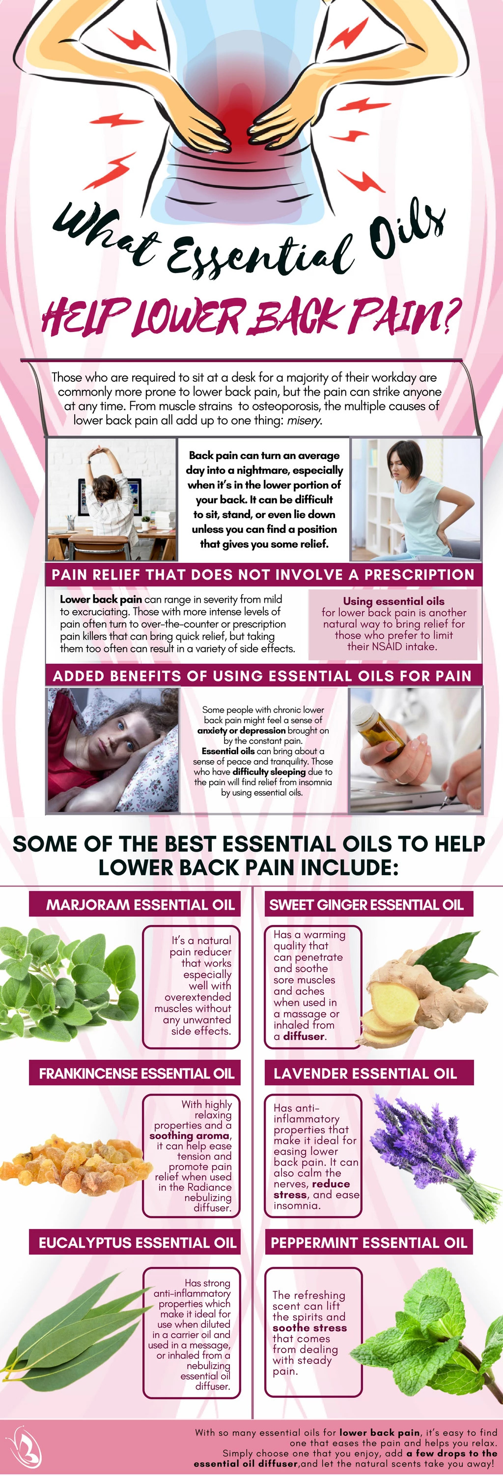 Essential Oils for Lower Back Pain