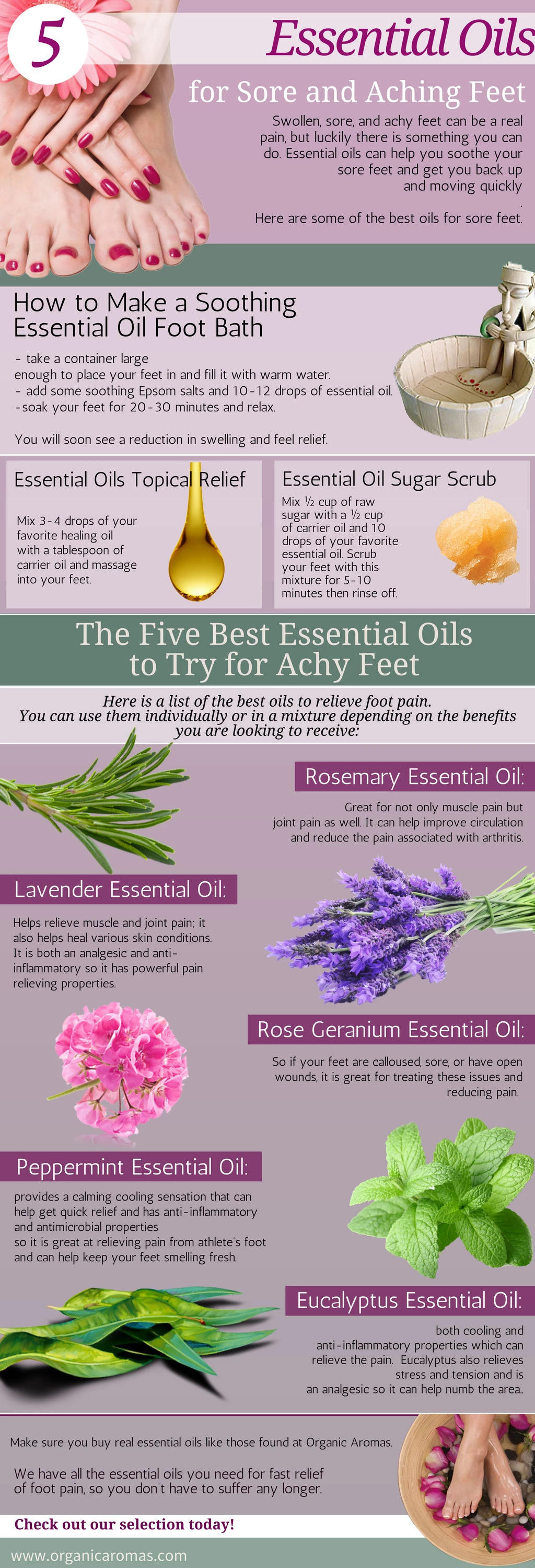 Essential Oils for aching feet