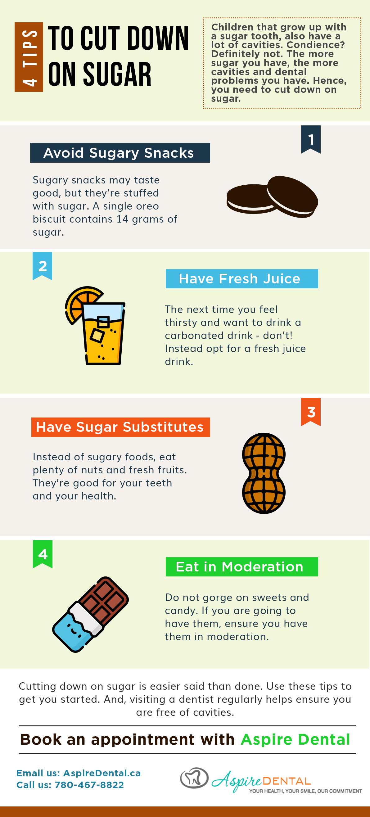 Tips to cut down on Sugar