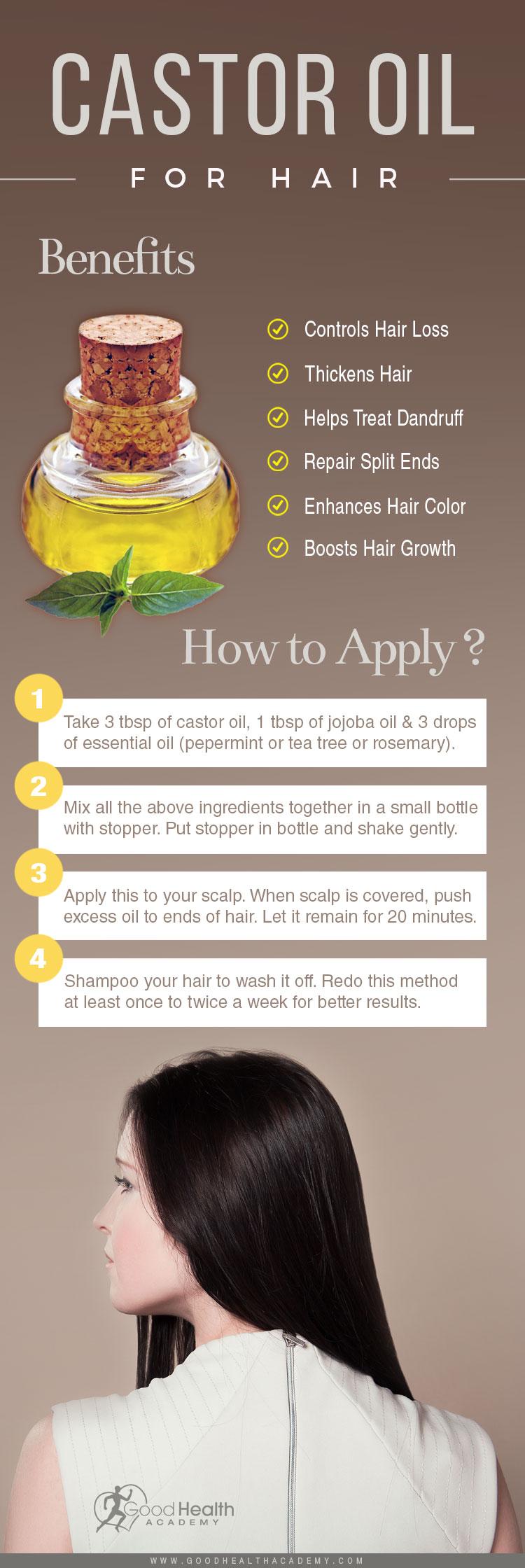 How to apply Castor oil on Hair