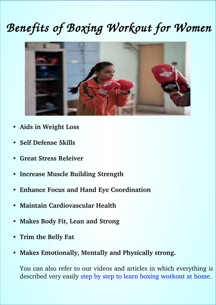 Benefits of boxing workout for women benefits