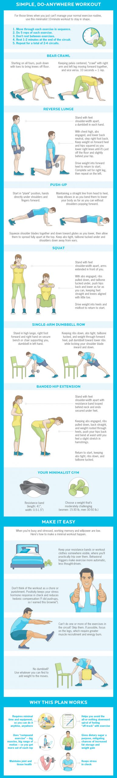 Simple to do anywhere workout