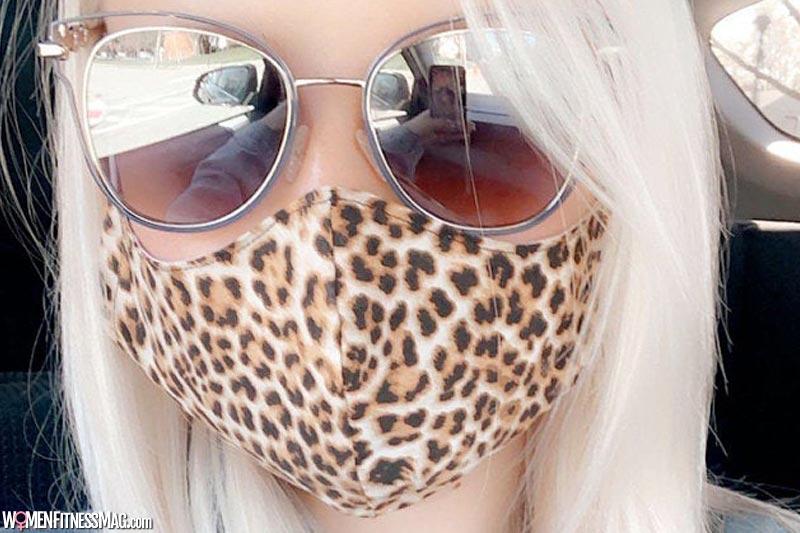 Cheetah print face masks for women