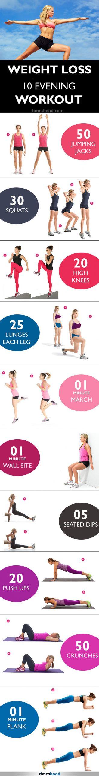 Evening Workouts for Weightloss