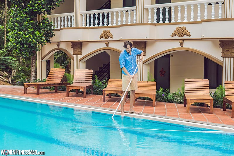 Regular maintenance of swimming pool