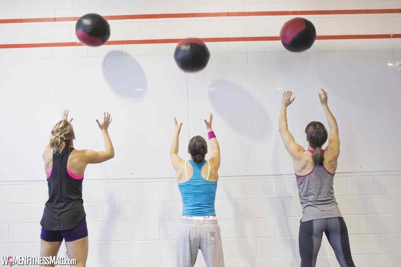 Medicine Ball Push-Press Throw-Overhead